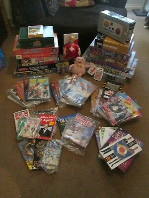Joblot/Bundle of over 50 TV PROGRAMME related Toys/Books/Comics