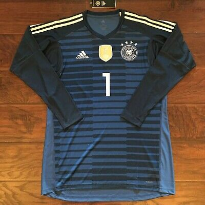 6952573c3 2018 Germany Goalkeeper Jersey  1 NEUER Large World Cup Soccer Adidas GK NEW