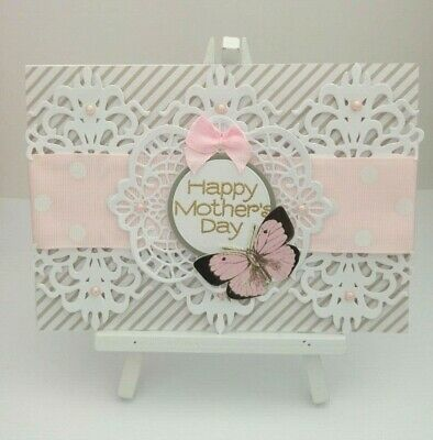 Handmade Mother's Day Card: Damask Lace