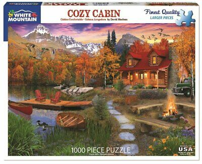 White Mountain Puzzles Cozy Cabin - 1000 Piece Jigsaw Puzzle