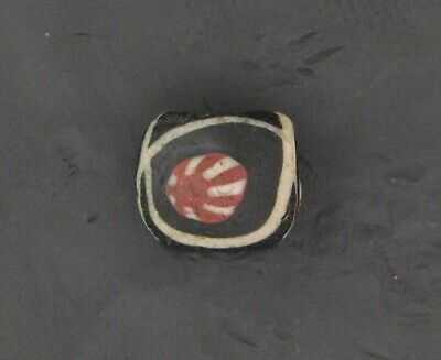 Ancient Glass Bead. Byzantine/Viking Period. Millefiori Mosaic Glass Bead V12