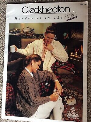 Vintage Cleckheaton Knitting Pattern Leaflet 760 Handknits in 12 Ply