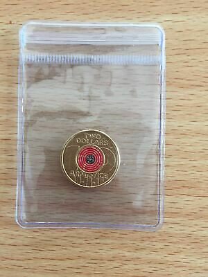 2018 $2 Remembrance Day Armistice century ANZAC Two Dollar Coloured Coin UNC