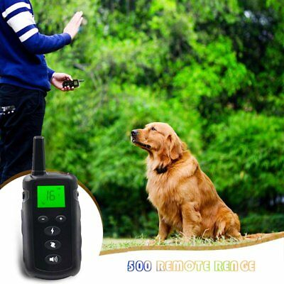 Upgrade 1 2 Waterproof Rechargeable Anti No Barking Collar Electric Shock Vibrat