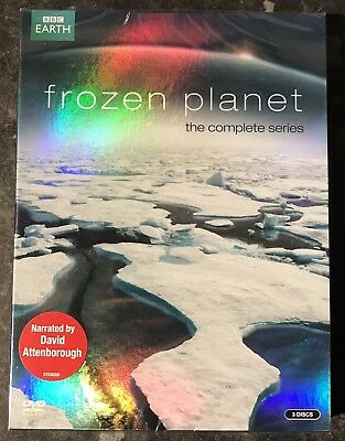 Frozen Planet Complete Series (3-Disc Dvd Set) Brand New & Sealed Free Post