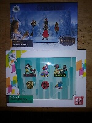 Disney store limited edition pin sets lot of 2 le 4200 and le 2600