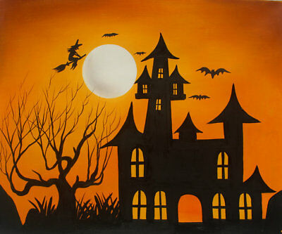 ORIGINAL Modern Wall Art Halloween Abstract Oil Painting Canvas Home Decor w14