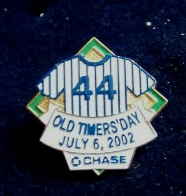 364d1539cdc 2002 NY New York Yankees Old Timers Day Reggie Jackson 44 jersey lapel pin  28705