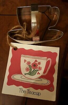 Ann Clark TEACUP Tin Plated Steel Cookie Cutter Vermont USA
