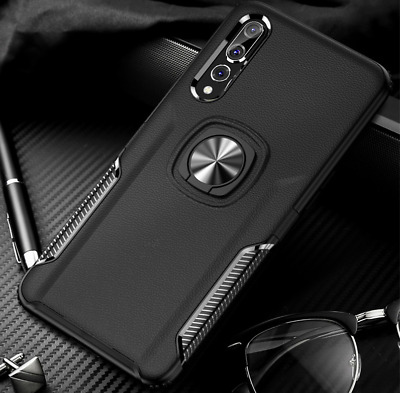 For Huawei P20 P30 Pro Lite Luxury Hybrid Rugged Magnetic Ring Stand Case Cover
