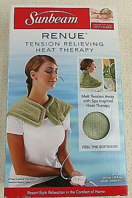 """Sunbeam Renue Tension Relieving Heat Therapy Pad 14""""x 22"""""""