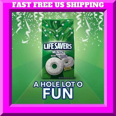 6.25 LB LIFE SAVERS Mints Wint-O-Green Hard Candy Party Size Bag 2 BAGS