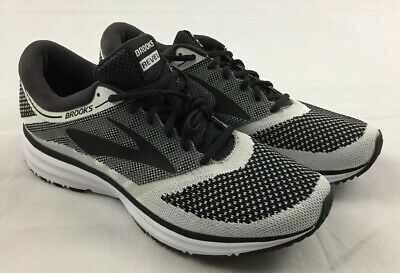 881d1ab3371f1 Brooks Revel Mens Size 11 Running Shoes Sneaker Black White Grey Anthracite