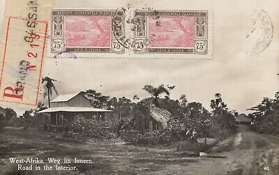French colonies: Ivory Coast 1929, post card Registered to Maisach/Germany