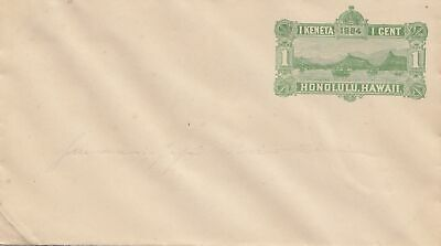 Hawai: cover with landscape, unused 1881