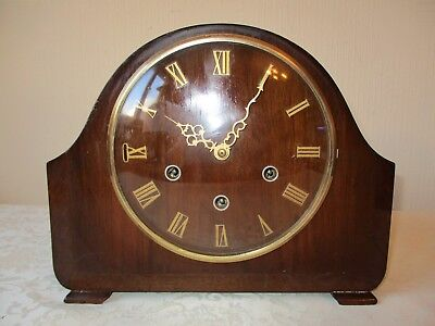 Vintage Smiths Westminster Chiming Mantle Clock ( Serviced And Working )