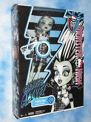 Monster High Frankie Stein Doll Ghouls Alive Electriffing Action NRFB Nice Box