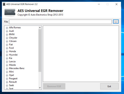 AES-universal egr remover