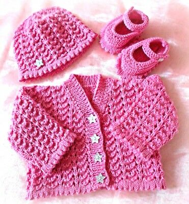 Hat /& Shoes VR52 DK Baby Cardigan Pattern