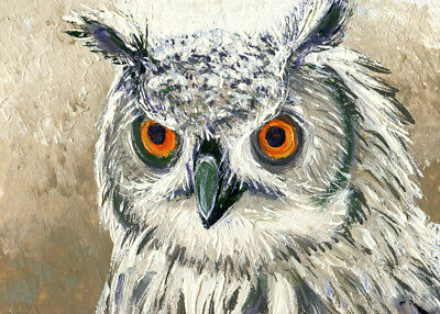 "ACEO ATC Original Art Painting Pictures Oil 2,5""x3.5"" V.Vlasiuk Birds"