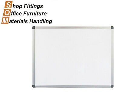 Wall Mounted Porcelain Whiteboard Aluminium Frame Includes Pen Tray 900W X 600H