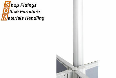 Rapidline Aluminium Joining Pole For Divider Desk Screen