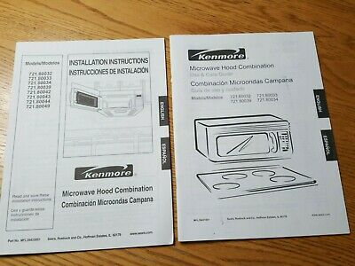 Kenmore Microwave Hood Combination installation instructions use and care guide
