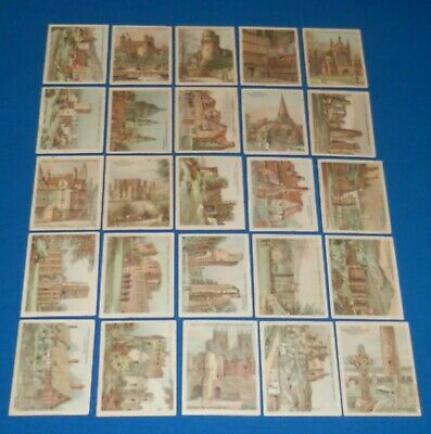 1928 W.D. & H.O. Will's The Nation's Shrines Cigarette Cards Complete Set of 25
