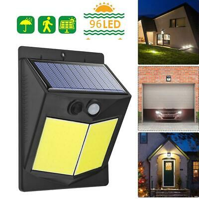 96 LED Solar PIR Motion Sensor Light Outdoor Garden Security Lamp Floodlight