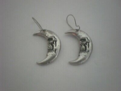 Pair of Alchemy Pewter  Crescent Shaped Ear Droppers made in England