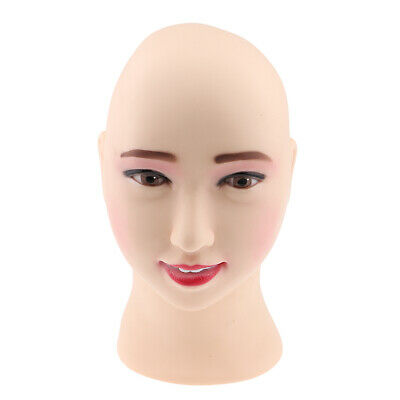 Wig Stands 52cm Bald Manikin Head With Black Table Clamp Woman Doll Head For Wig Making Hat Display Maniquin Head Wig Stand