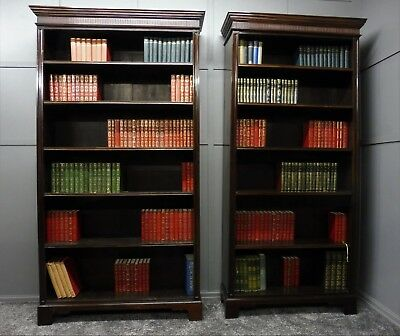 Pair Of Antique Victorian  Mahogany Bookcases Circa 1890