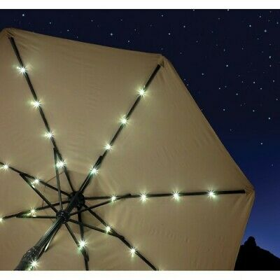 Solar Powered Umbrella Lights 72 LED Patio Parasol Outdoor Garden Lighting