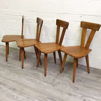 A set of 4 Polish Arts & Crafts Dining Chairs dated 1946 by Wincze & Szlekys