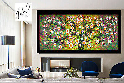 Tree Flower modern canvas art painting landscape dots Australia not aboriginal