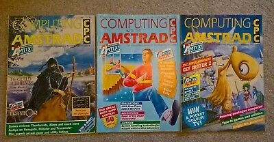 'Computing with the Amstrad' 3 magazines from 1988 (Jan-Mar)