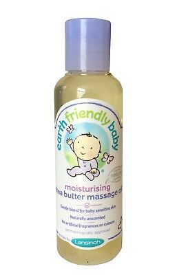 EARTH FRIENDLY BABY MOISTURISING SHEA BUTTER MASSAGE OIL 125ml - ALL NATURAL