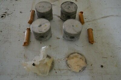 Datsun  L16T   FLAT TOP    PISTONS  .030   NOS  New Old Stock    L16 race engine