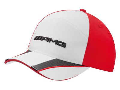 70dde59843cd6 Mercedes-Benz AMG Baseball Cap Kids Red White B66952709 Genuine New