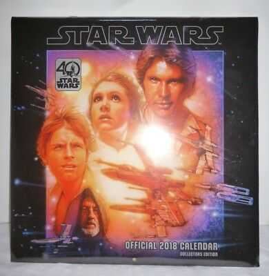 Star wars Official 2018 Calendar Collectors Edition New Sealed