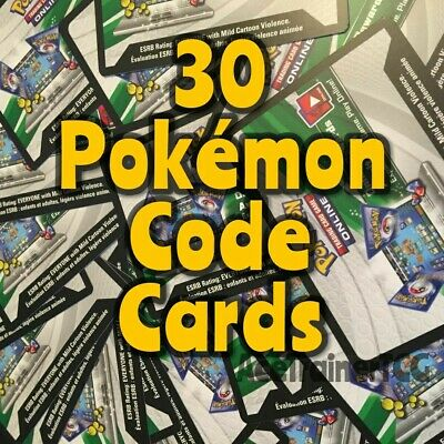 30 Sun Moon XY Pokemon TCGO PTCGO TCG Online Codes Booster Packs Pack Code Lot