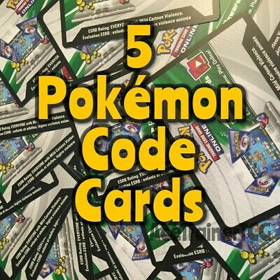 5 Sun Moon XY Pokemon TCGO PTCGO TCG Online Codes Booster Packs Pack Code Lot