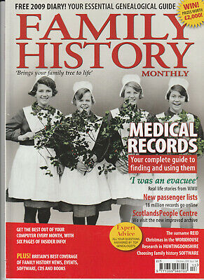 FAMILY HISTORY MONTHLY Magazine Christmas 2008 - Medical Records
