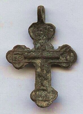 Genuine 1000 Yr Old BYZANTINE CHRISTIAN Bronze CROSS - Great EASTER Gift Idea