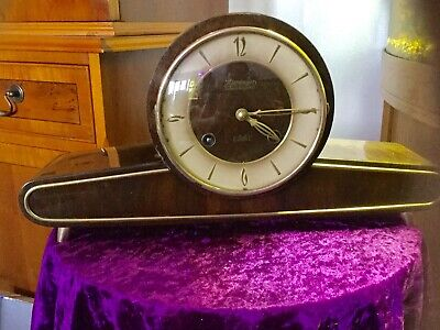 Vintage Kieninger Schwebegang 8 Day Chiming Mantel clock With Key