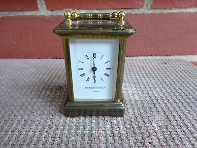 Vintage Miniature Brass Carriage Clock Matthew Norman