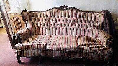 french antique style 3 seater sofa and chair in good used condition.