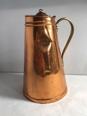 Nice Victorian Copper & Brass Insulated Jug Arts & Crafts Style