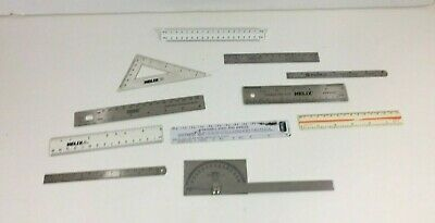 Lot of 11 Vintage Rules Rulers General Helix Alvin Omega Shopsmith Empire