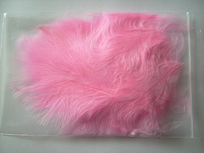 20 Pack Of Marabou Feathers-Choice Of Colours, Crafts, Card Making, Flytying Etc